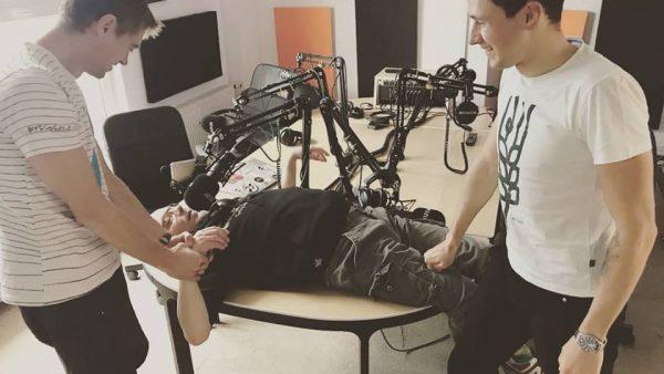Audycja radiowa z Adamem Proboszem i Igorem Błachutem